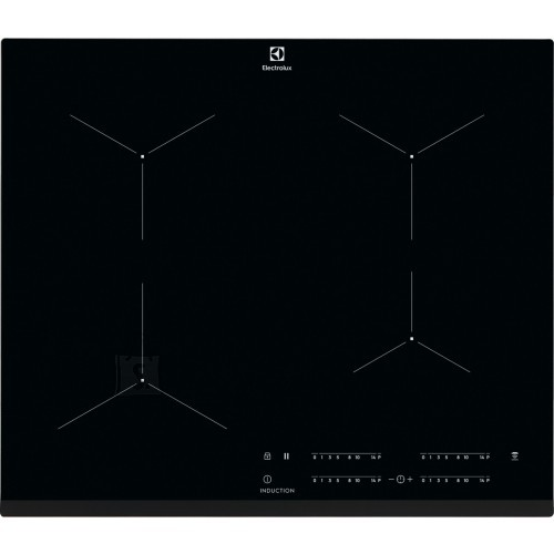 Electrolux Pliidiplaat Electrolux, 4x Induktsioon, 60 cm, must, faasitud esiserv