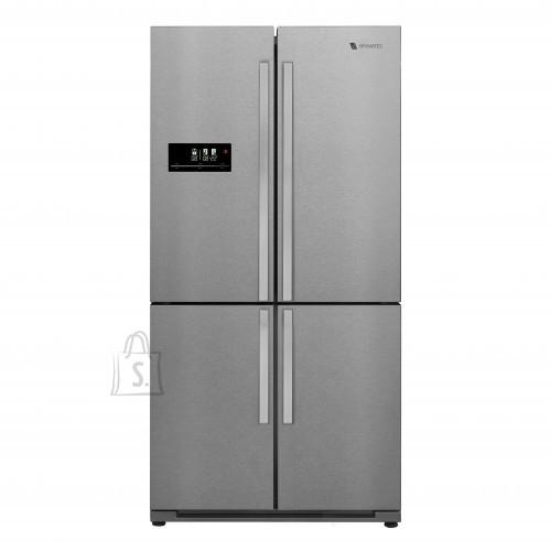 Külmik Bravatec Side By Side, iontech, nelja uksega, 185 cm, A+, 46 dB, rv-teras