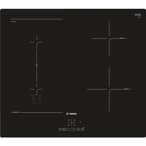 Bosch Pliidiplaat Bosch, 4 x induktsioon, 60 cm, must
