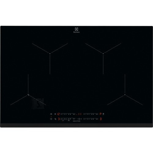 Electrolux Pliidiplaat Electrolux, 4 x induktsioon, 78 cm, Hob2Hood, faasitud esiserv, must