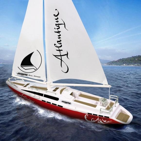 Jamara raadioteel juhitav purjekas Atlantique