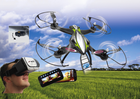 Jamara F1X VR Altitude Wifi FPV droon