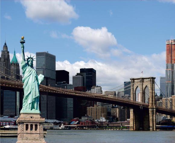 Fliis fototapeet Statue of Liberty, 360x270cm