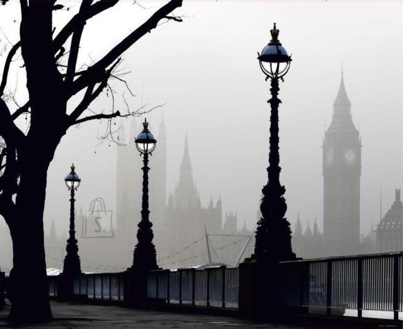 Fliis fototapeet Magical London, 360 X 270CM