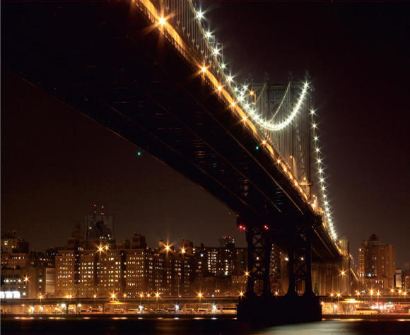 Fliis fototapeet Bridge at night 360 X 270CM