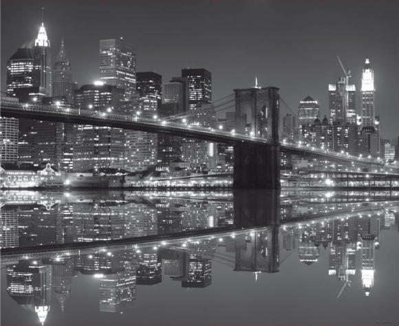 Fliis fototapeet New York in black and white, 360 X 270CM