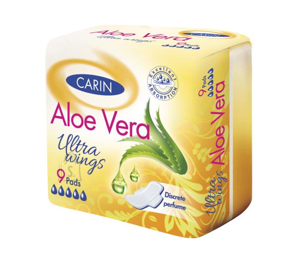 Carin Aloe Vera ultra wings hügieeniside - 9 tk
