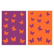 Bradley Froteerätik 50x70 Liblikas lilla/oranz