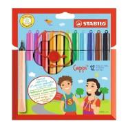Stabilo Cappi viltpliiats 12 värvi