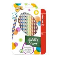 Stabilo Easy colors värvipliiats 12 värvi vasakukäelistele+teritaja