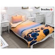 Bradley satiinist voodipesukomplekt Rahulik loojang tekikott 150x210cm ja padjapüür 50x60 cm