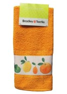 Bradley frotee köögirätik 40x60 cm oranz/apelsinid bordüüril