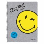Herlitz ruuduline spiraalköites kaustik Smiley Fancy A4/70