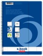 Herlitz jooneline spiraalköites registriga kaustik A4/100l