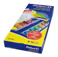 Pelikan akvarellid 12 värvi