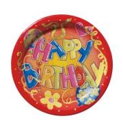 Herlitz papptaldrik Happy Birthdhay  23cm /10tk