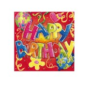 SusyCard salvrätikud Happy Birthday 33x33 cm 20 tk