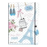 Herlitz kaustik flex Pariis A4/2x40 lehte, ruut+joon