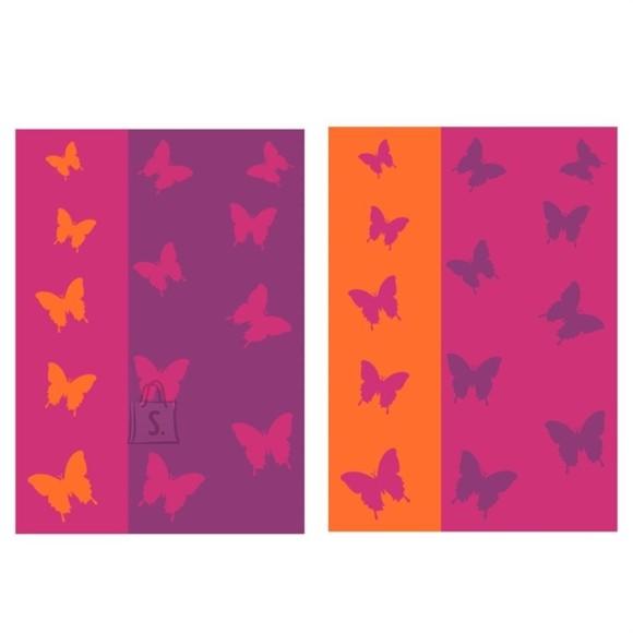 Bradley Froteerätik 50x70 Liblikas roosa/oranz