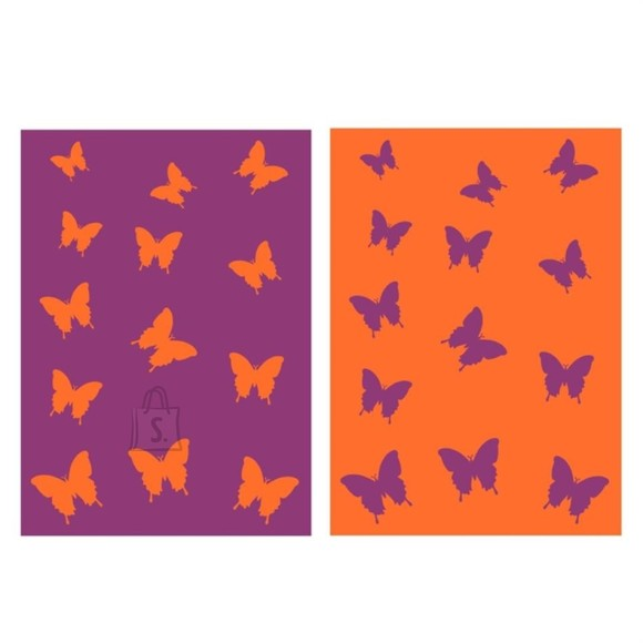 Bradley Froteerätik 70x140 Liblikas lilla/oranz