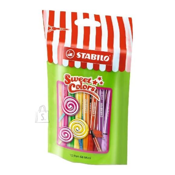 Stabilo Stabilo tindipliiats Pen 68 mini sweet 15 värvi