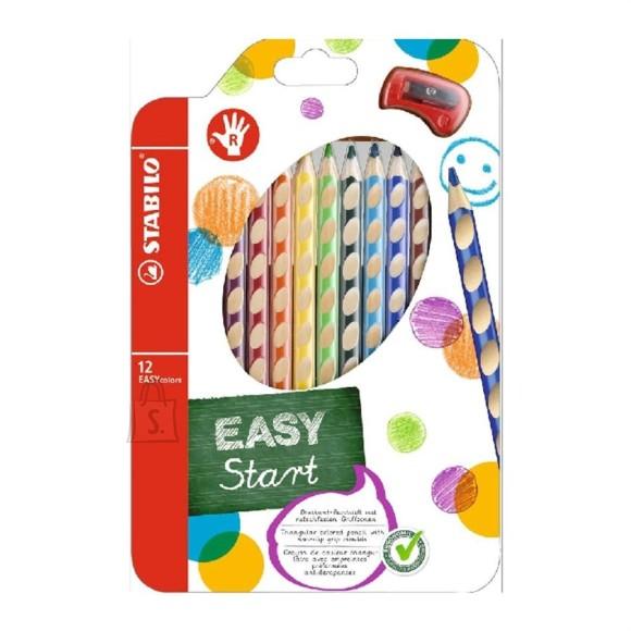 Stabilo Easy colors värvipliiatsid paremakäelistele 12 värvi