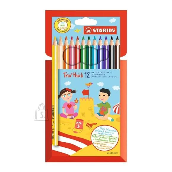 Stabilo värvipliiats Trio jäme 12 värvi