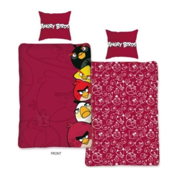 Bradley voodipesukomplekt Angry Birds tekikott 150x210cm ja padjapüür