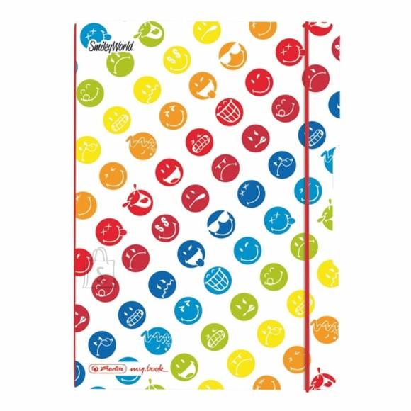 Herlitz kaustik flex A5/40l Smiley Rainbow ruuduline
