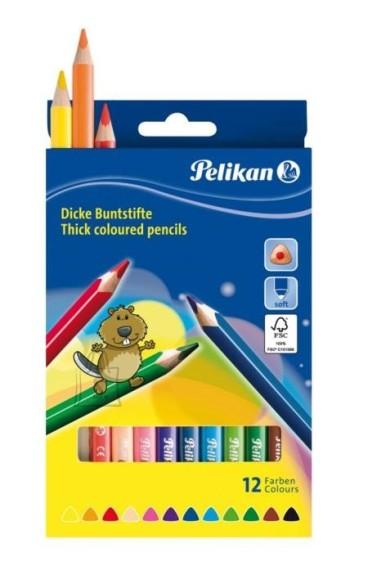 Pelikan kolmnurksed värvipliiatsid 12 värvi