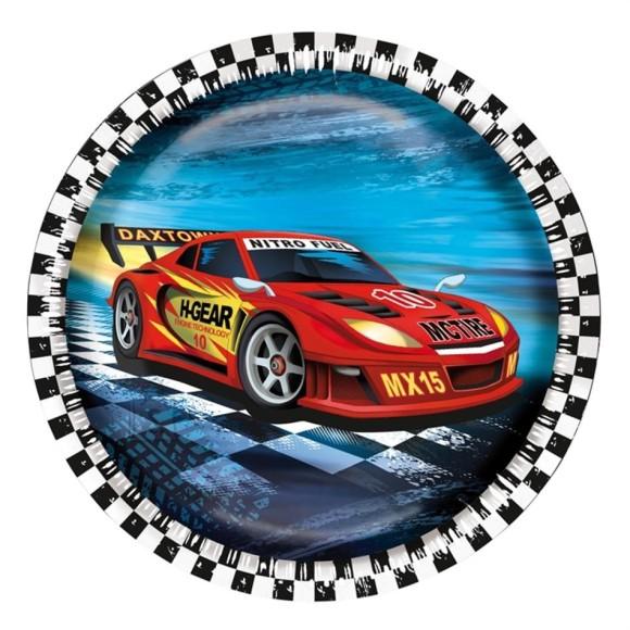 SusyCard papptaldrik Super Racer 23cm / 8tk