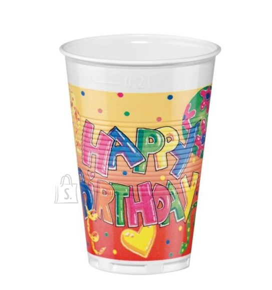 SusyCard joogitops Happy Birthday 200 ml/ 12 tk