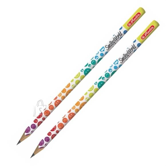 Herlitz kolmnurkne harilik pliiats Smiley HB 2tk