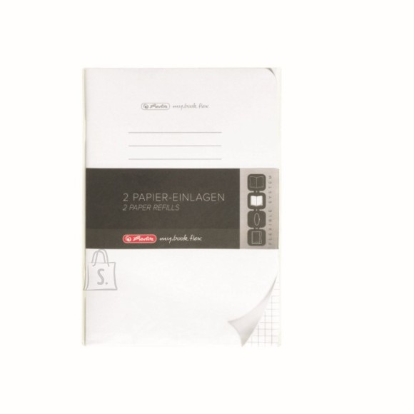 Herlitz kaustik flex sisuplokk A5/40x2lehte, ruuduline