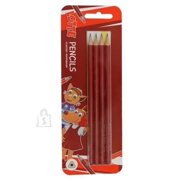 Bradley harilikud pliiatsid Lotte HB 4tk