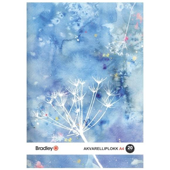 Bradley akvarelliplokk A4/20lehte, 210g