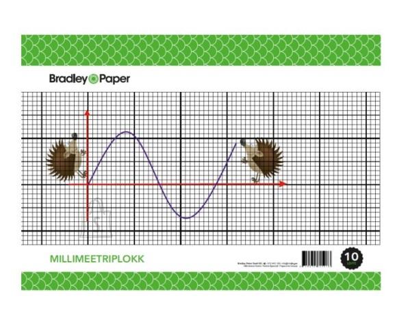 Bradley millimeetriplokk A4/25 lehte 70g