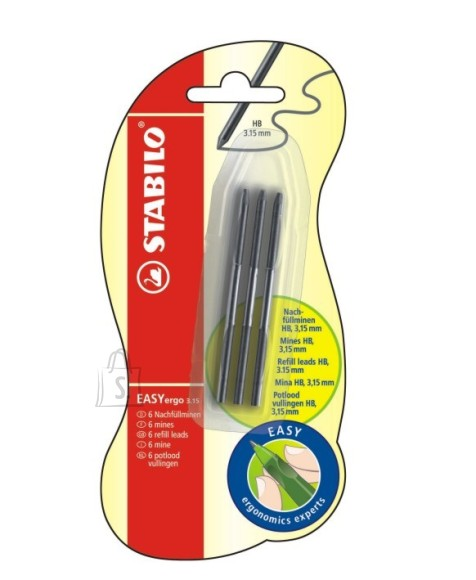Stabilo südamikud  Easy mehaanilisele pliiatsile 6tk 3.15mm