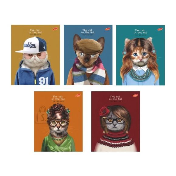 Kaustik Kass kampsuniga 48 lehte, ruuduline