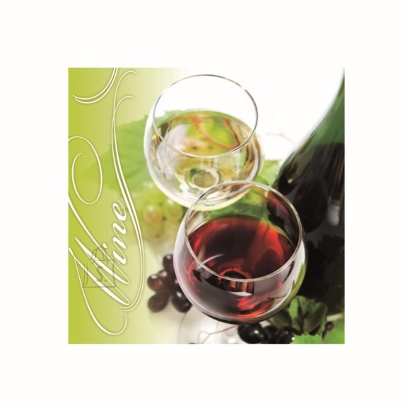 Herlitz kahekihilised salvrätikud Wine 33x33cm, 20 tk