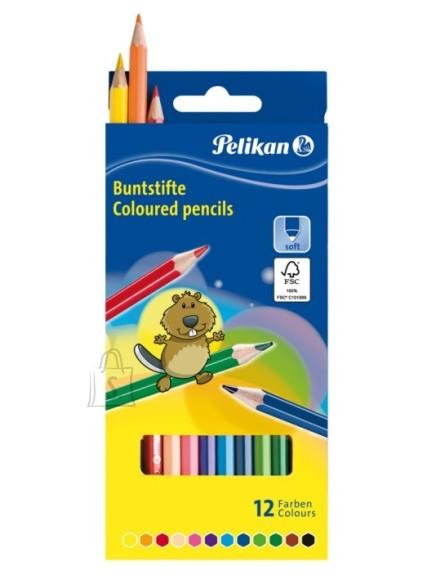 Pelikan värvipliiatsid 12 värvi
