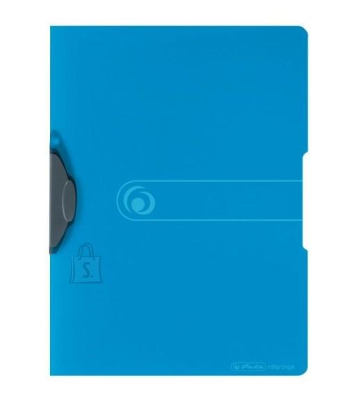 Herlitz kaaned fix-clip A4, sinine läbipaistev