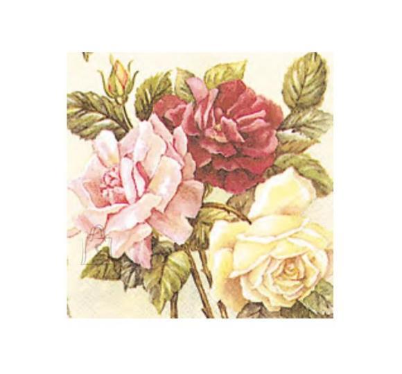 Herlitz Salvrätik 33x33/20 Rose Garden
