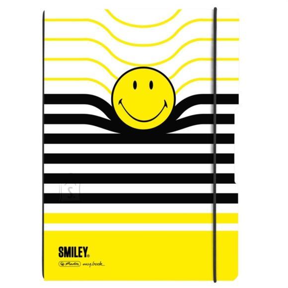 Herlitz Kaustik flex A4/40 ruut+joon Smiley B&Y Stripes