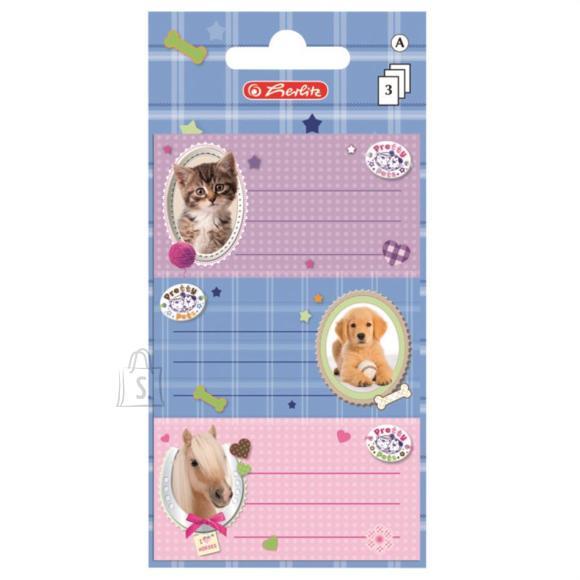 Herlitz Vihikuetikett Pretty Pets 9tk