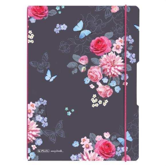 Herlitz Kaustik flex A4/40+40 ruut ja joon Ladylike Flowers
