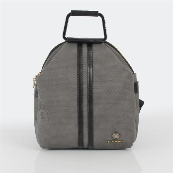 Silver & Polo Naiste seljakott sangaga Silver&Polo 771, hall/must kärjemustriga