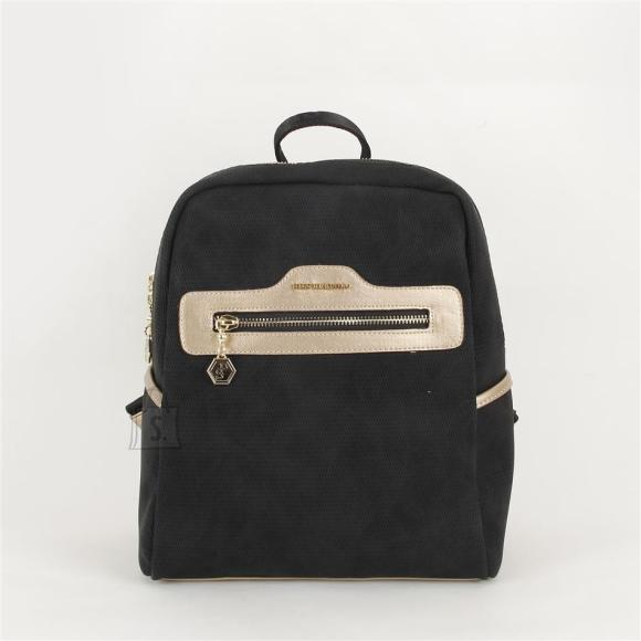 Silver & Polo Naiste seljakott eestaskuga Silver&Polo 866, must/kuldne