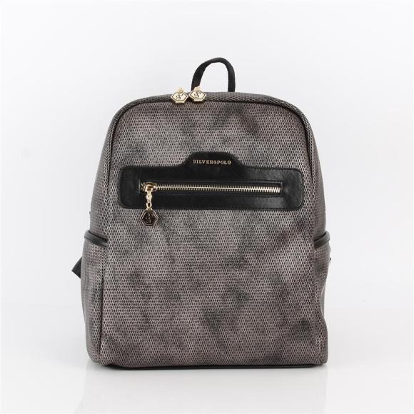 Silver & Polo Naiste seljakott eestaskuga Silver&Polo 866, metalne/must