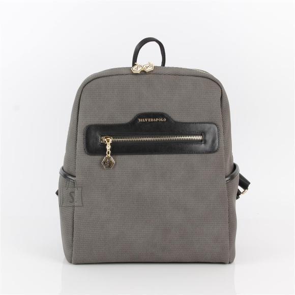 Silver & Polo Naiste seljakott eestaskuga Silver&Polo 866, hall/must